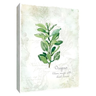 """PTM Images 9-148574  PTM Canvas Collection 10"""" x 8"""" - """"Fresh Oregano"""" Giclee Herbs Art Print on Canvas"""