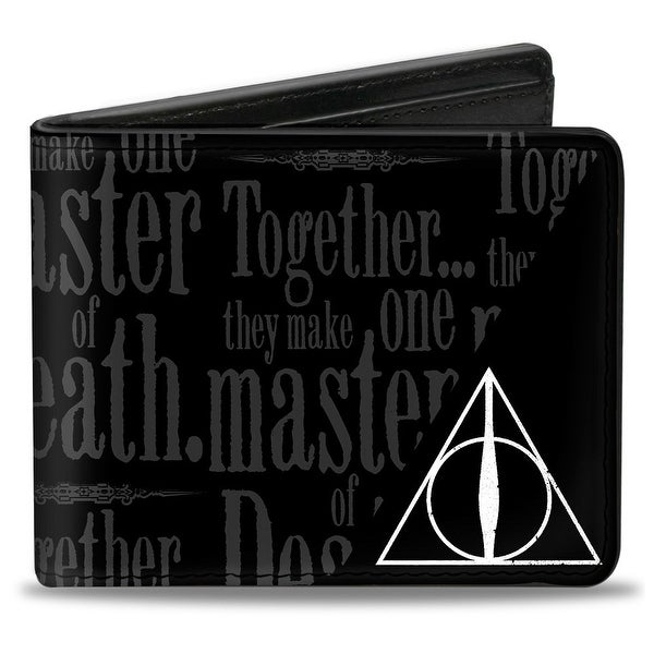 Together...They Make On Master Of Death. Deathly Hallows Symbol + Hp Logo Bi-Fold Wallet - One Size Fits most