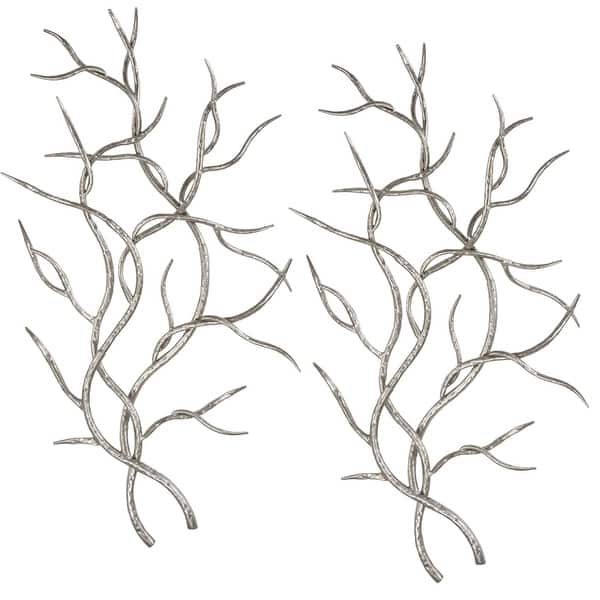 Silver Branches Metal Wall Decor