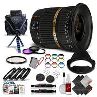 Tamron SP AF 10-24mm f / 3.5-4.5 DI II Lens For Canon International Version (No Warranty) Pro Kit - black