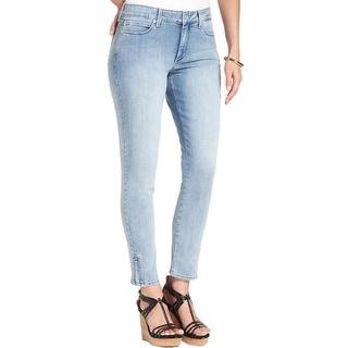 NYDJ Womens Petites Ankle Jeans Light Wash Skinny