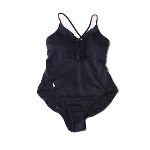 Polo Ralph Lauren Black Womens Size Small S One-Piece Swimwear