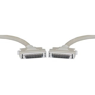 Offex SCSI II cable, HPDB50 (Half Pitch DB50) Male, 25 Twisted Pairs, 6 foot