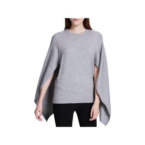 Calvin Klein Womens Cape Sweater Casual Heathered - M