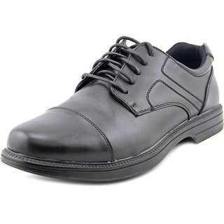 Deer Stags Nu Yorker Men W Round Toe Leather Black Oxford
