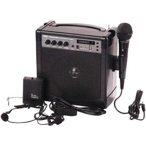 Pyle Pro Pwma220Bm Portable Karaoke Pa Amp & Microphone System