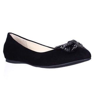 Jessica Simpson Movey Jeweled Bow Ballet Flats - Black