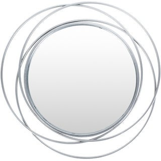 """Link to Kindra Modern Circles Silver 24-inch Round Mirror - 24""""H x 24""""W Similar Items in Chandeliers"""