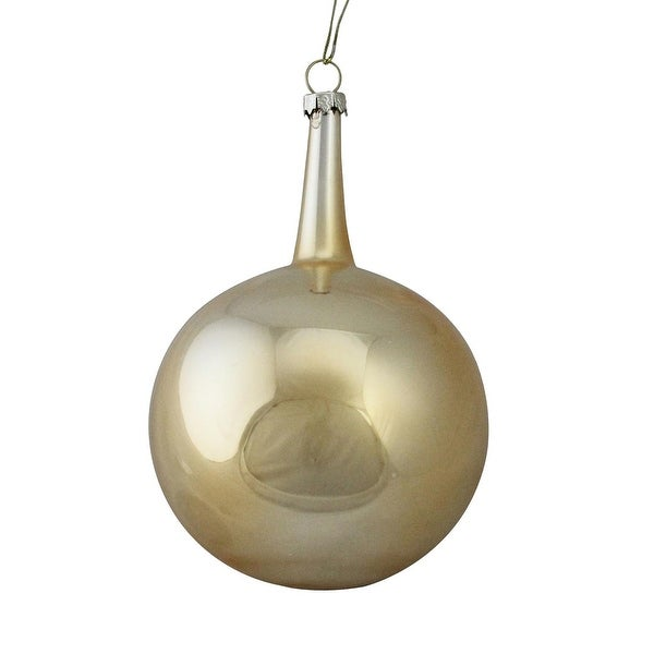 "4"" Gold Glass Ball Christmas Ornament (100MM)"