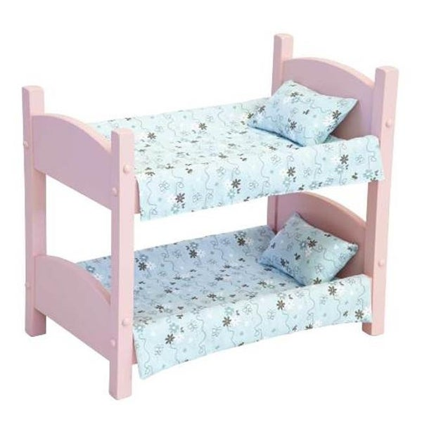 Shop Lapps Toys Furniture 006 P Wooden Doll Bunk Bed Pink Free