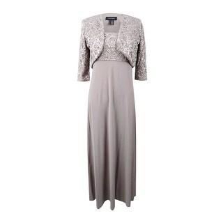 R&M Richards Women's 2PC Embellished Lace Dress and Jacket