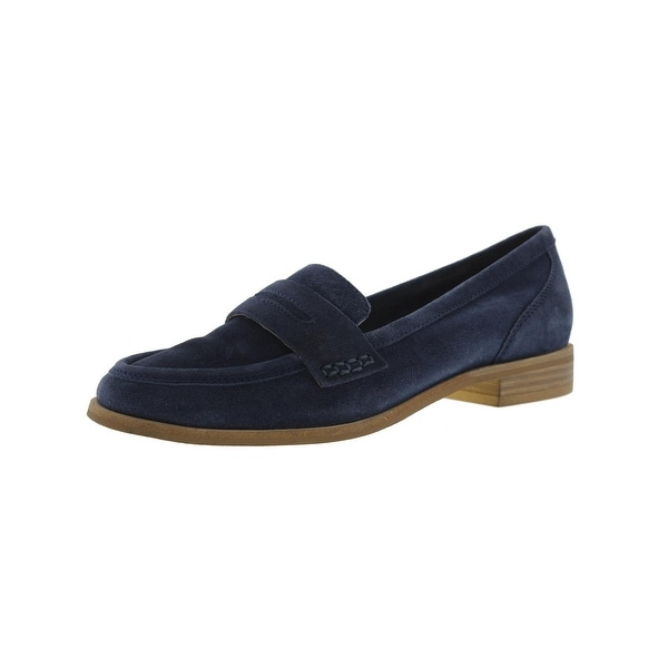 Seychelles Womens Tigers Eye Loafers Suede Round Toe