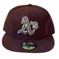 detailed look c6a9c c1f67 MLB Oakland Athletics New Era 59Fifty Black Fitted Hat, 6 5 8 - 6