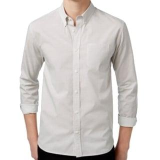 WHT Space NEW White Mens Size Small S Button Down Dot-Print Shirt