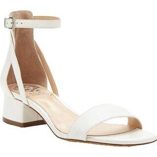 Vince Camuto Women's Shetana Block Heel Sandal Pure Baby Sheep Leather