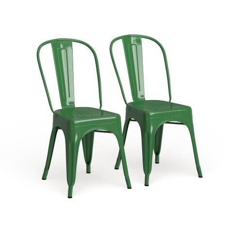 Metal Indoor-Outdoor Stackable Chair