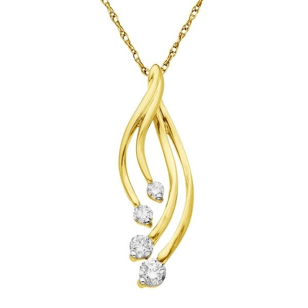 1/3 ct Diamond Pendant in 10K Gold