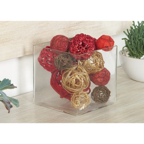 Multi Dried Plant Material Traditional Orbs & Vase Filler (Set of 2) - 6 x 6 x 12Round