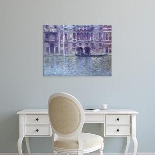 Easy Art Prints Claude Monet's 'Palazzo da Mula' Premium Canvas Art