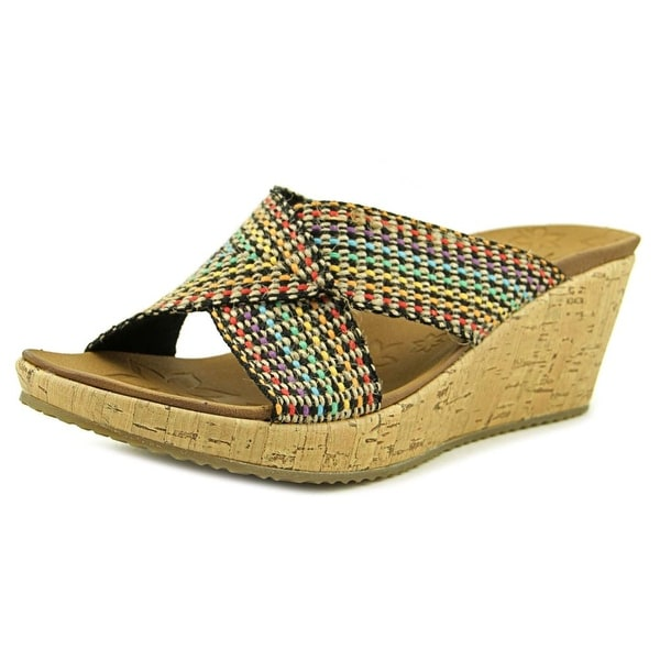 Skechers Beverlee Delighted Women Open Toe Synthetic Multi Color Wedge Sandal