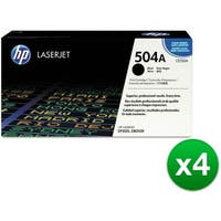 HP 504A Black Original LaserJet Toner Cartridge For US Government (CE250AG)(4-Pack)