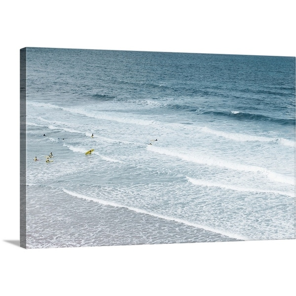 """""""People learning to surf in the Atlantic ocean."""" Canvas Wall Art"""