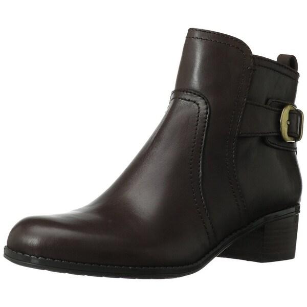Bandolino Womens Carousel Leather Almond Toe Ankle Fashion Boots