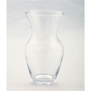 Diamond Star 50004 7 x 4 in. Glass Vase, Clear