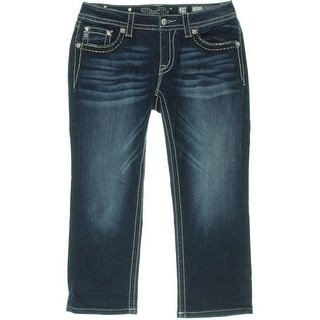 Miss Me Womens Signature Skinny Cropped Jeans