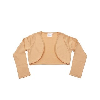 Ooh! La La! Couture Girls Gold Solid Color Long Sleeved Bolero