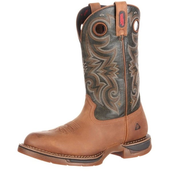 Rocky Western Boots Mens Long Range Waterproof Goodyear Brown