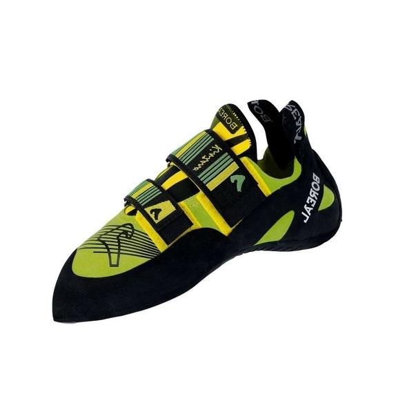 Boreal Climbing Shoes Mens Kintaro Leather Black Yellow Green