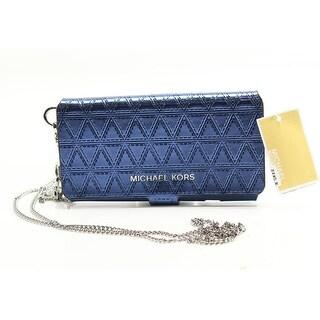 Michael Kors Steel Blue Iphone 7 Folio Case Crossbody Wallet