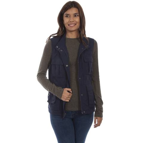 Scully Western Vest Womens Multi Pocket Zip Front Nylon