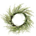 "12"" Green and Brown Decorative Berry Artificial Spring Twig Wreath - Unlit - Thumbnail 0"