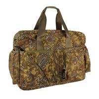 Brown Paisley Deluxe Duffel Style Diaper Bag