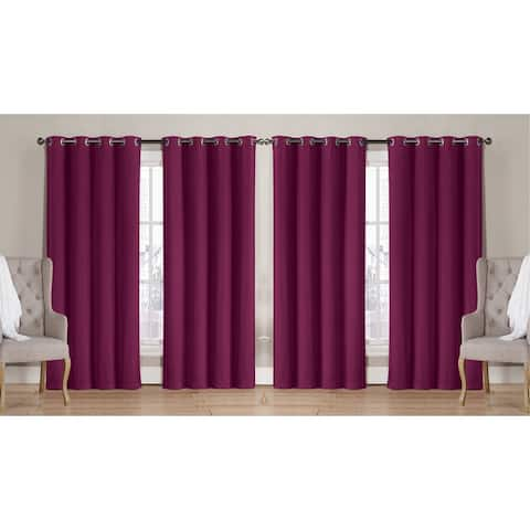 "Nathan Solid Room Darkening Window Curtain Panels 63"" 84"" 90"" Multiple Colors"