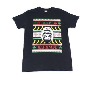 Gildan NEW Black Mens Size Small S Crewneck RIP Harambe Graphic Tee T-Shirt 140