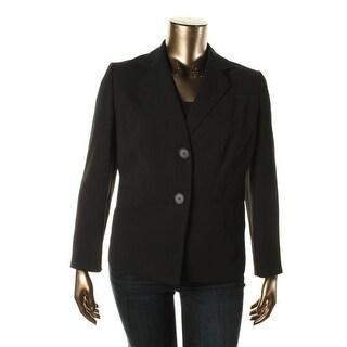 Kasper Womens Plus Notch Collar Long Sleeve Two-Button Blazer - 14W