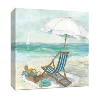 "PTM Images 9-147023  PTM Canvas Collection 12"" x 12"" - ""Tropical View II"" Giclee Beaches Art Print on Canvas"