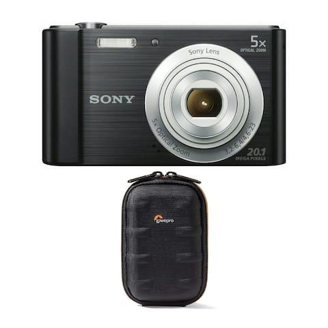 Sony Cyber-Shot W800 Compact Digital Camera (Black) Bundle