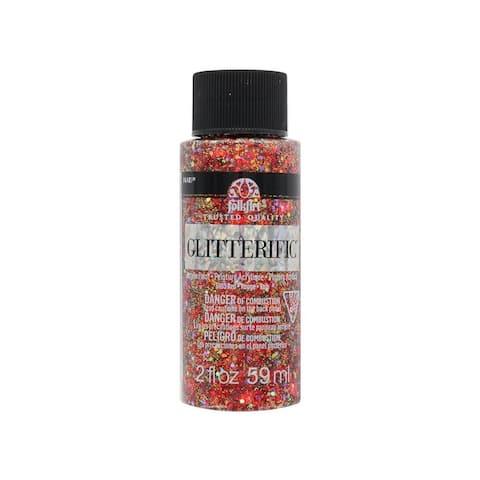 5883 plaid folkart glitterific paint 2oz red