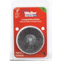 """Weiler 36059 Crimped Wire End Brush, 3"""""""