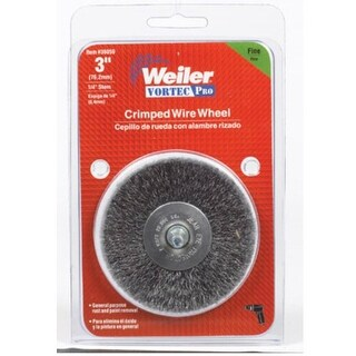 Weiler 36059 Crimped Wire End Brush, 3""