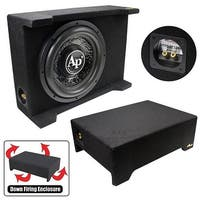 "Audiopipe 10"" Loaded Sealed Enclosure 600 Watts Shallow Mount 4 Ohm"