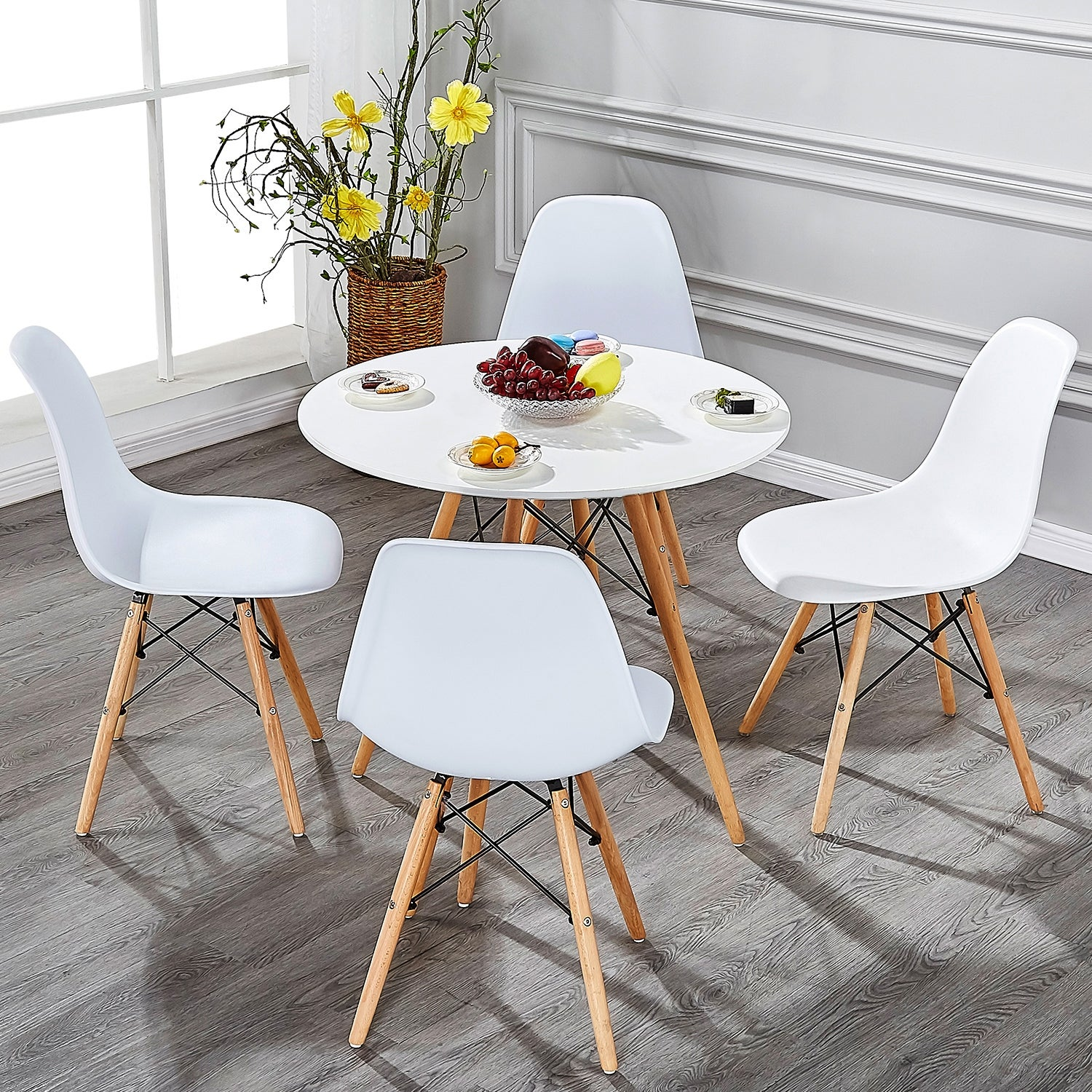 Marvelous Home Kitchen Dining Chairs Wood Leg Side Chairs Set Of 4 Black Available Only Alphanode Cool Chair Designs And Ideas Alphanodeonline