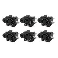 Unique Bargains 6 Pcs PCB Mount 4 Pin Female S Jack DVD Mini Din Sockets Connectors