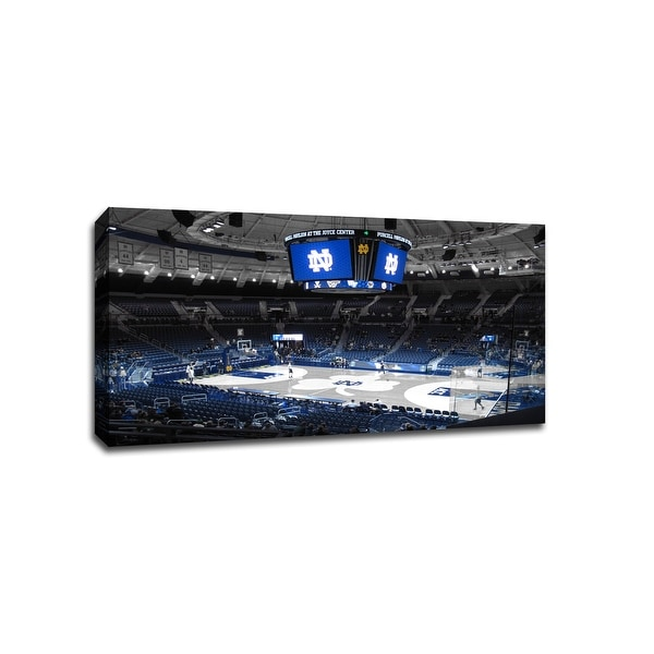 Notre Dame - College Basketball Touch of Color - 30x16 Canvas ToC