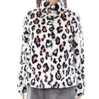 Abound NEW White Ivory Women's Size XS Leopard-Print Soft Jacket