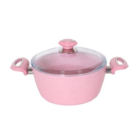 """Oncu 7"""" Granite Deep Pot, Pink"""